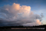 Morning clouds over the river Otter