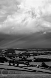 Clouds over Mid Devon hilltop view