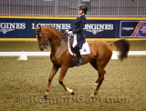 Eiren Crawford riding Warello at the Royal International Dressage Cup at Ricoh Coliseum Royal Horse Show Exhibition Place Toront