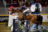 Conor Swail Ireland riding GK Coco Chanel in the Longines FEI World Cup Show Jumping competition jump off at the Royal Horse Sho