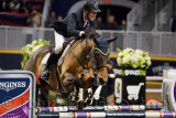 Ian Miller Captain Canada riding Dixson in the Longines FEI World Cup Show Jumping competition jump off at the Royal Horse Show