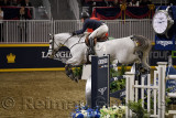 Kelli Cruciotti USA riding Hadja Van Orshof Serenity Farm in the Longines FEI World Cup Show Jumping competition at the Royal Ho