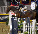Vanessa Mannix Canada riding Grand Cru VD VIJF Eiken in the Longines FEI World Cup Show Jumping competition at the Royal Horse S