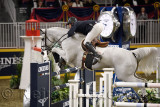 Andrew Kocher USA riding Navalo de Poheton in the Longines FEI World Cup Show Jumping competition at the Royal Horse Show Toront