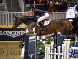 McLain Ward USA riding HH Azur in the Longines FEI World Cup Show Jumping competition at the Royal Horse Show Toronto