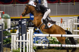 Daniel Coyle Ireland riding Cita in the Longines FEI World Cup Show Jumping competition at the Royal Horse Show Toronto