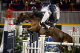 Shane Sweetnam Ireland riding Main Road to second place in the Longines FEI World Cup Show Jumping competition at the Royal Hors