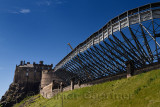 Construction of stands at the Esplanade of Edinburgh Castle for the annual Royal Edinburgh Military Tattoo as part of Edinburgh