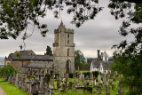 Church of the Holy Rude with Bell tower and Royal Cemetery with historic gravestones Cowane's Hospital and Town Jail in Stirling
