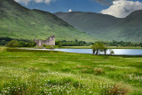Ruins of the 15th Century Kilchurn Castle in the Scottish Highlands on Loch Awe Dalmally Scotland UK