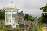 The Martyrs Monument for Margaret and Agnes Wilson drowned for presbyterianism at the Holy Rude Royal Old Town cemetery Stirling