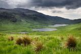 Loch an Eilein Lochan Ellen and Loch Airdeglais with Ben Creach peak in Glen More Isle of Mull Scotland UK