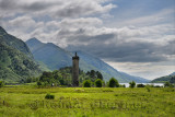 Glenfinnan Monument to the Jacobite uprising at the head of Loch Schiel in Lochaber Scottish highlands Scotland United Kingdom