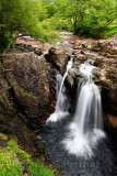 Lower Falls of the Water of Nevis river in Glen Nevis valley at Achriabhach Scottish Highlands Scotland UK