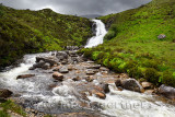 Blackhill or Eas a' Bhradain waterfall on the Allt Coire nam Bruadaram river Scottish Highlands Isle of Skye Scotland UK