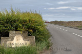 England Scottish border on Highway 68 near Paxton Berwick upon Tweed Scotland UK