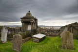 Clouds over cemetery at The Parish Church of Saint Mary the Virgin on tidal Island of Holy Island of Lindisfarne England UK