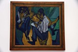 Artist sketching with two women (1913) - Ernst Ludwig Kirchner - 4086