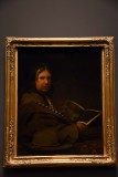 Self-Portrait Hodling an Etching by Rembrandt (1700-1710) - Arent de Gelder - 5163