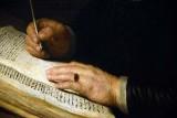 Portrait of a Man Sitting at his Desk (1631), detail - Rembrandt Harmenszoon van Rijn - 5174