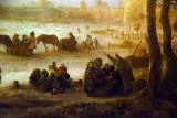 Frozen Lake (1642 or 1648), detail - Isaac van Ostade - 5320