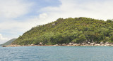 Palm rich Curieuse island