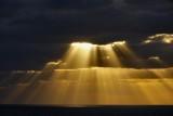 Crepuscular rays closeup