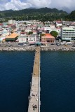 Roseau pier and town