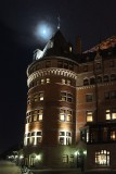 Chateau Frontenac and moon