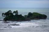 Rocky coast of Uvita Island