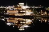 Paddlefish and Disney Springs at night