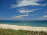 Boca Beach, painted sky
