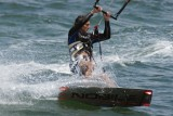 Kite boarder turning