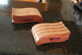 matched pair of wave bandsaw boxes