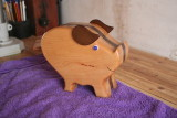 streaky the piggy bank bandsaw box
