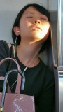 Pretty Young Girl Sleeping On Metro