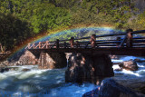 Yosemite Falls Bridge Rainbow Mist