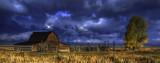 Grand Tetons Barn Winter
