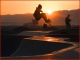 Skateboarder Sunset