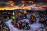 Neon Boneyard Fiery Sunset