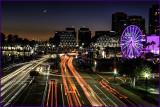 Long Beach Moonset