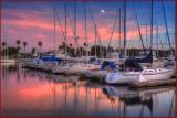 Marina Del Rey Moonrise