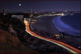 Pacific Coast Hwy 2 Santa Monica Moonlight
