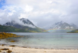 Lofoten islands, the shell beach