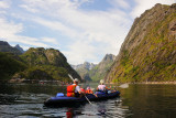 Lofoten islands, paddling The Trollfjord