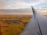 Coming in to land at Edmonton Airport