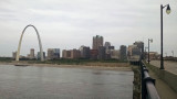 St. Louis from the Eads bridge