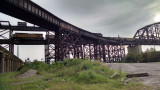 Approaches to the railroad bridge across the Mississippi, St. Louis