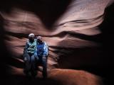 In Upper Antelope Slot Canyon near Page, AZ