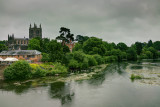 Hereford in the rain